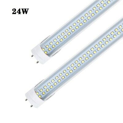 4FT 24W 2400LM T8 LED Tube Light Replacement Double Line Dual Diode Lamp 85-277V