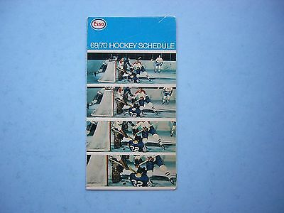 1969/70 Imperial Oil Esso Nhl Hockey Broadcasts Schedule