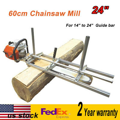 """Portable Chainsaw Mill Log Planking Milling Bar Size 14"""" to 24"""" Lumber Cutting"""
