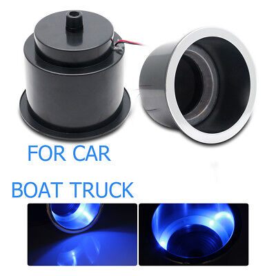 12V Blue LED Light Lamp Marine Boat Truck Car Camper Cup Drink Holder Plastic
