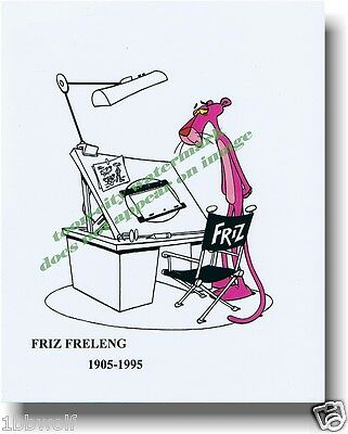 Speechless Sad Pink Panther Friz Freleng Tribute  8x10 Animator Director