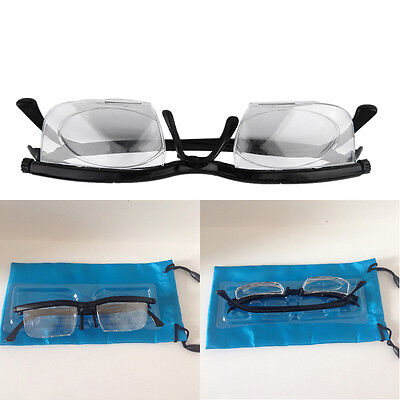 Dial Eye Glasses Vision Reading Glasses Flexible Frames Case Adjustable POP""