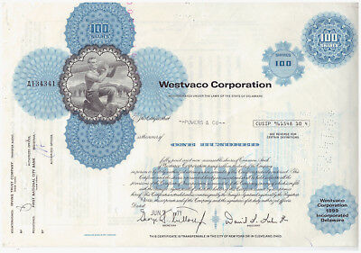 Aktie USA Stock Wertpapier Westvaco Corporation -- 1971