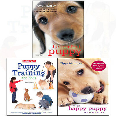 Perfect Puppy Training for Kids, Happy Puppy Handbook 3 books collection set NEW