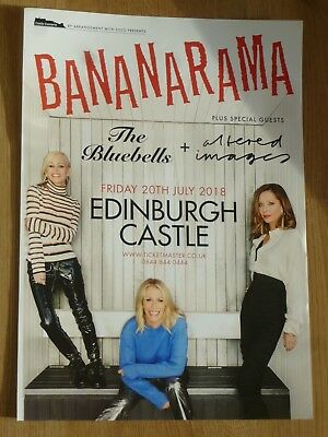 Bananarama - Edinburgh july 2018 tour concert gig poster