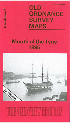 Old Ordnance Survey Map Mouth Of The Tyne 1895 North & South Shields Tynemouth