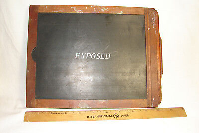 Vtg 1900's Photo Printing Frame EXPOSED Plate Slide,Wooden Contact Print Frame