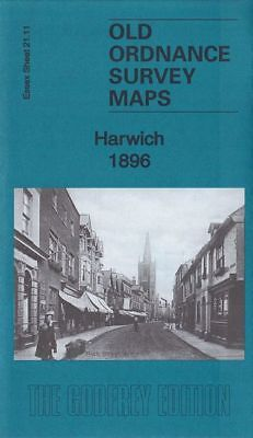 Old Ordnance Survey Map Harwich 1896 Dovercourt Station New Pier Tower Hill