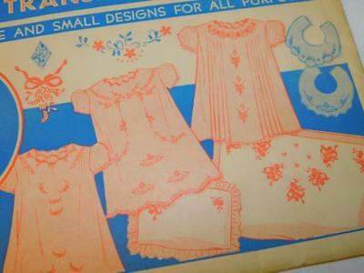 Vtg Embroidery Transfer PATTERN 119 SUPERIOR Design for Baby Layette  UNUSED