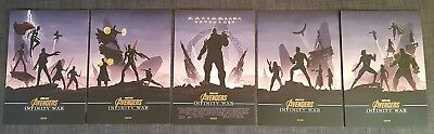 Avengers Exclusive Odeon Posters x 5 Official, NOT Reprints. Marvel Infinity War