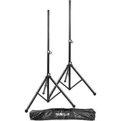 Quik Lok S171PAK-BB Tripod Speaker Stands Pair + Bag