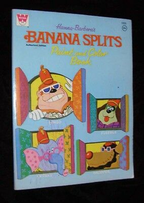 Hanna Barbera Banana Splits Paint And Color Book Whitman 1970