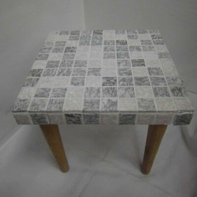1950s 1960s Flower Stand Flower Stool with Mosaikstein 50s 60s Table Nierentich
