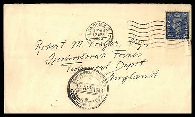 London Apr 12 1943 Single Franked Cover To Czechoslovak Field Post England