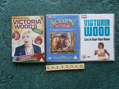 3 Victoria Wood Dvds - Mid Life Christmas, Acorn Antiques Etc With Julie Walters