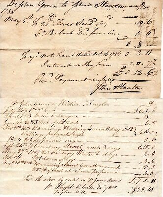 1770s, Revolutionary War soldiers, Worcester, Mass, payment receipts signed