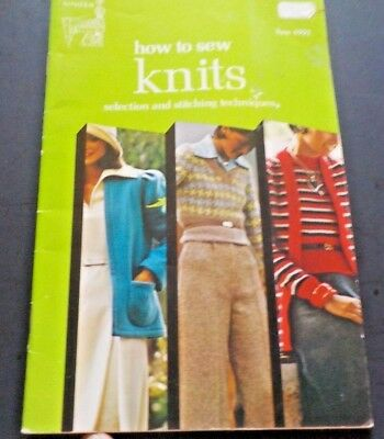 How To Sew Knits by The Singer Co. #4992