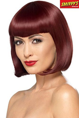 Deluxe Bob Wig With Shaped Fringe, Cherry, Heat Resistant/ Styleable  AC NEU