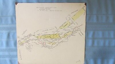 1890 Clear Creek County Colorado Spanish Bar District Mine Claim Lode Map-Miners