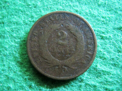 1869 Two Cent Piece - Scarce Date - Not Pretty - Ugly  - Free U S Shipping
