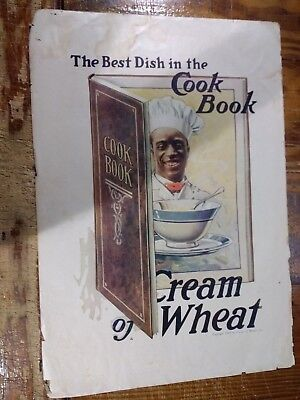 1918 Cream Of Wheat Advertisement With Rastus In A Cook Book