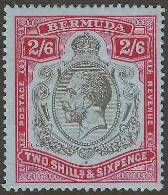 Bermuda 1918 KGV 2sh6d Black and Red on Blue Mint SG52 cat £38