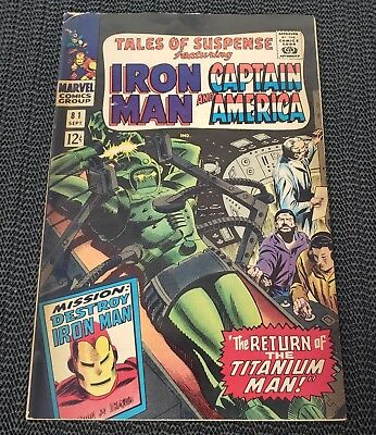 Marvel Tales Of Suspense #81 1966, Iron Man, Captain America, & Titanium Man