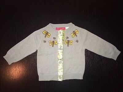 MIMI & MAGGIE Vintage Blue Toddler Girl Sweater Sz. 18 Months (play Condition)