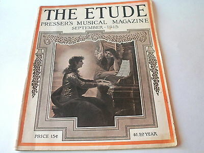 1915 etude magazine with cream of wheat and colgate ad's