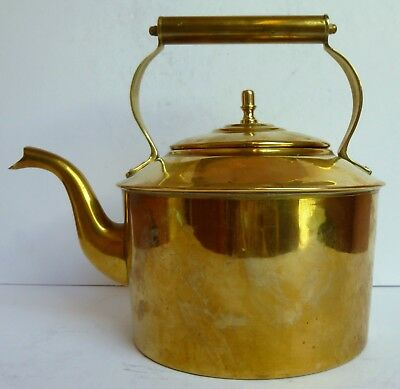 Stunning Reproduction Victorain Brass Kettle Teapot Cottage Style 702g To Use