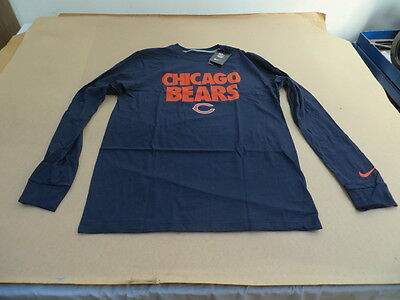 Nice NIKE MENS CHICAGO Bears Icon T Shirt Marine M $31.99   PicClick  for sale