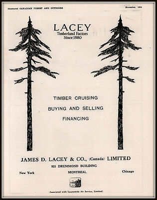 1924  Ad  Lacey Co Montreal Timber Cruising