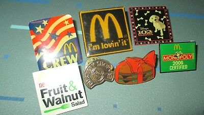 McDonalds Crew Lapel Pin LOT Im Lovin It Mystery Shop