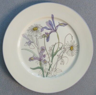 Block Spal Watercolors Dinner Plate Hillside w Iris