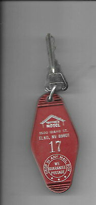 Toppers Motel, Elko, Nevada, old room key and FOB