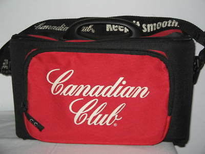 Canadian Club Cooler Insulated Bag With Drink Holders & Adjustable Strap