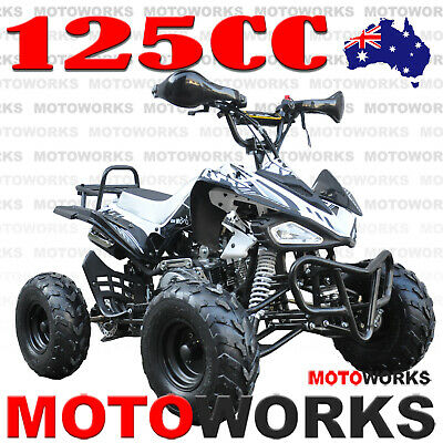 MOTOWORKS SPORTS 125CC ATV QUAD Bike Dirt Gokart 4 Wheeler Buggy black