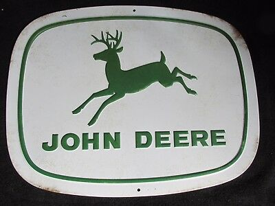 "John Deere TIN SIGN Retro"" Metal LARGE Home Decor Shop Market Farm Tractor SALE"