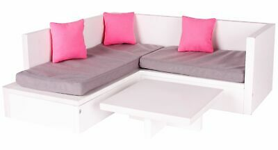 Chad Valley DesignaFriend Wooden Sofa and Coffee Table