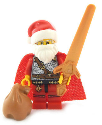 NEW LEGO BRAVE SIR SANTA CLAUS MINIFIG castle knight figure minifigure christmas