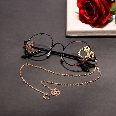 Steampunk Gear Glasses with Chain Vintage Unisex Glasses Gothic Cosplay Props