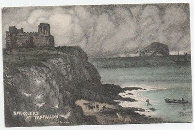Phillimore Series Postcard Smugglers Tantallon North Berwick Vintage Used 1909