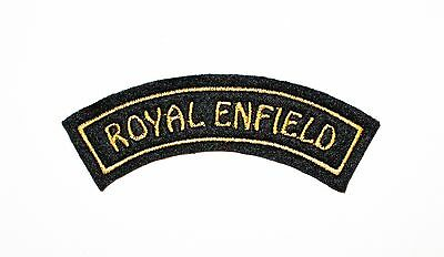 Classic Royal Enfield Embroidered Curved Sew On Motorcycle Patch