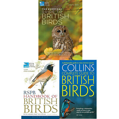 British Birds Collection 3 Books Set RSPB Handbook The Everyday Guide BRAND NEW