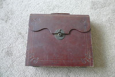 Victorian Leather Bound Writing Case