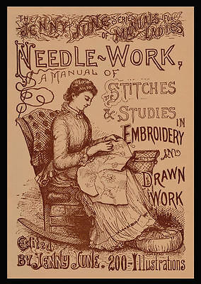 Jenny June c.1885 HUGE Pattern Book Stitches & Studies in Embroidery Book