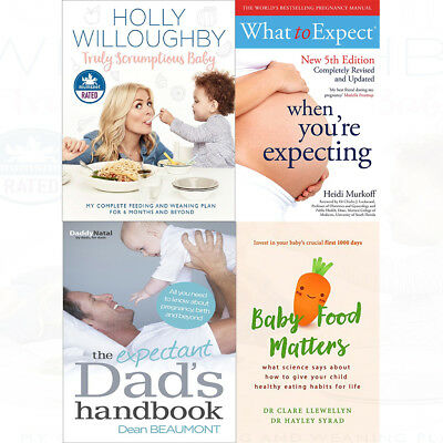 Expectant Dad's Handbook 4 Books Collection Set Baby Food Matters Paperback NEW