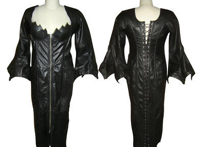 Leather Vixen Vampire Dress Corset Flame Domina Tv Hot