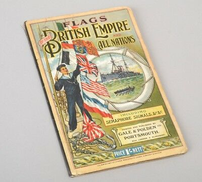 Victorian Chart. Flags of the British Empire and All Nations. Ref HBCJ