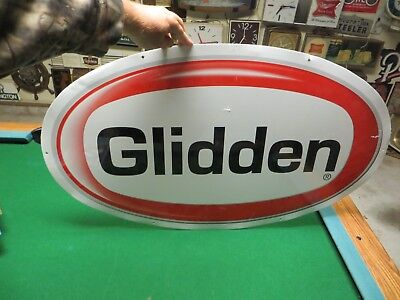huge Glidden Paint advertising sign from paint dept or paint store
